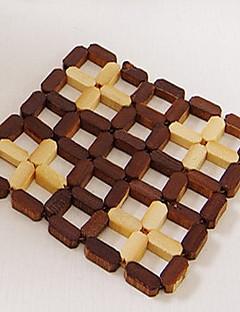 Bambus Kvadrat Bordskånere / Glasunderlag