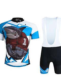 49171937f8c1 ILPALADINO Αθλητική φανέλα και σορτς ποδηλασίας Ανδρικά Γιούνισεξ  Κοντομάνικο Ποδήλατο Σορτσάκι με τιράντες Αθλητική μπλούζα Σετ