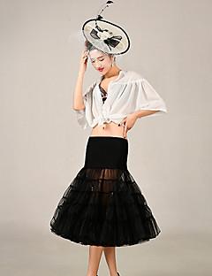 תחתונית  סליפ שמלת נשף באורך ברך 5 רשתות בד טול אקרילי שחור אדום