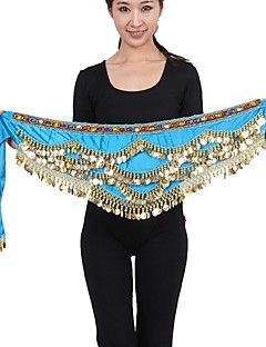 Belly Dance Belly Dance Belt Performance Chinlon Silver Coins 1 Piece