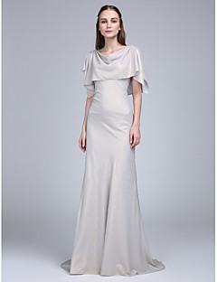 Lanting Bride® Sweep / Brush Train Chiffon Bridesmaid Dress A-line Cowl with