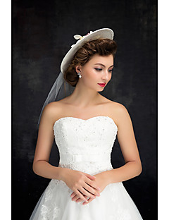 Women's Lace Tulle Flax Headpiece-Wedding Hats 1 Piece