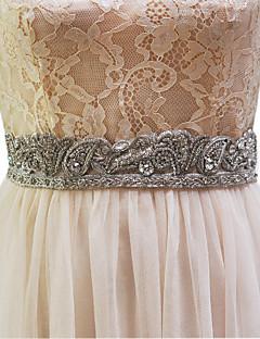 Elastisches Satin Hochzeit Schärpe-Perlstickerei / Künstliche Perle Damen 250cm Perlstickerei / Künstliche Perle