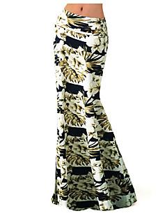 Polyester / Spandex-Rekbaar-Boho-Maxi-Vrouwen-Rokken