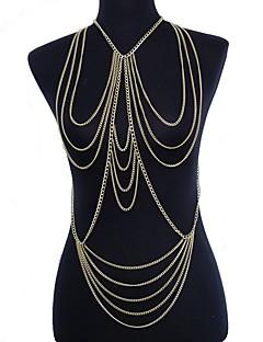 Γυναικεία Κοσμήματα Σώματος Αλυσίδα για την Κοιλιά Ιμάντες κολιέ Body Αλυσίδα / κοιλιά Αλυσίδα Sexy Ευρωπαϊκό crossover Πολυεπίπεδο