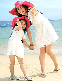 Short Sleeve Cotton Family Clothing Sets,Summer / Spring Dress