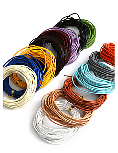 beadia 5mts 1,5 mm rund lædersnor& tråd& streng (14 farver)