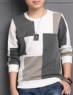 Jungen T-Shirt-Lässig/Alltäglich Einfarbig Baumwolle Frühling / Herbst Weiß