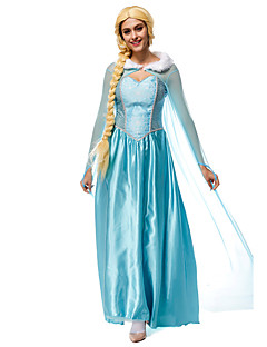 Cosplay Costumes Princess Fairytale Movie Cosplay Blue Patchwork Leotard/Onesie Cloak Halloween Christmas New Year Female Terylene