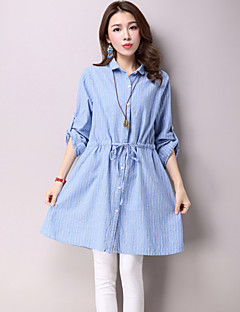 Maternity Shirt Collar Ruched Shirt,Cotton ¾ Sleeve