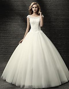 Da ballo Abito da sposa Lungo Con decorazione gioiello Tulle con Con applicazioni / Perline