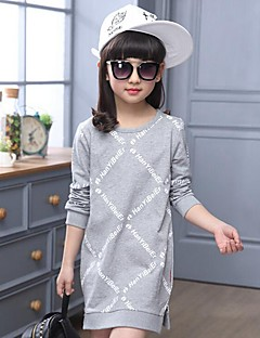 Girl's Casual/Daily Print Blouse,Cotton Spring / Fall Black / White / Gray