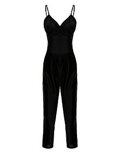 Damen Jumpsuits - Übergröße / Einfach Ärmellos Polyester Mikro-elastisch