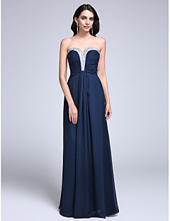 TS Couture® Formal Evening Dress Sheath / Column Sweetheart Floor-length Chiffon with Beading / Ruching