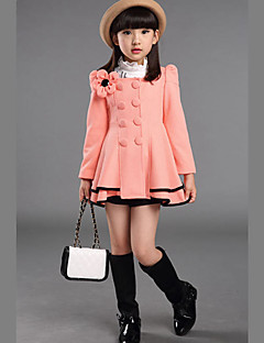 Girl's Casual/Daily Solid Suit & Blazer,Cotton Winter / Spring / Fall Pink / Red