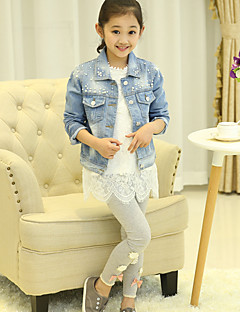 Girl's Casual/Daily Print Suit & Blazer,Nylon Spring / Fall Blue