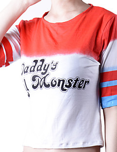 Super Hero Harley T-shirt Cosplay Halloween Costumes Cosplay T-Shirt Quinn Movie Cosplay