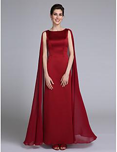 LAN TING BRIDE Футляр Платье для матери невесты - Элегантный стиль До щиколотки Без рукавов Шифон - Плиссировка