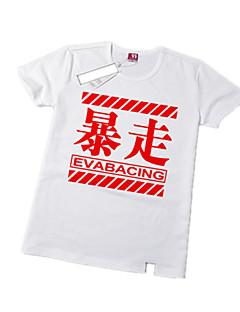 Inspirado por Neon Genesis Evangelion Ayanami Rei Animé Disfraces de cosplay Tops Bottoms Cosplay Estampado Blanco Manga Corta T-Shirt