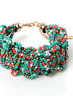 Žene Prijateljstvo narukvice Zamotajte Narukvice Reciklirani papir Bohemia Style Crn Crvena Zelen Pink Izabrane Boja Jewelry 1pc