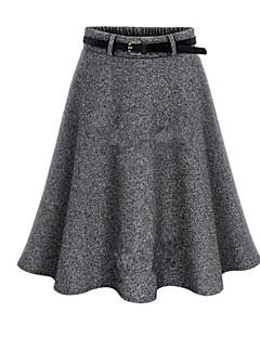 婦人向け ストリートファッション 膝上 スカート,ポリエステル マイクロエラスティック