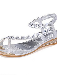 Women's Shoes Flat Heel Mary Jane Sandals Casual Silver/Gold