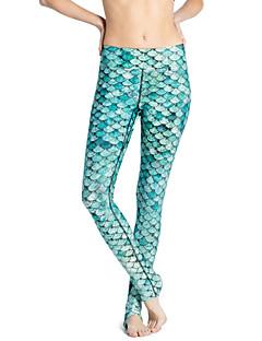 Naisten Kuvio Polyesteri Leggingsit