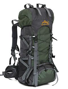56-75 L Hiking & Backpacking Pack Camping & Hiking /Wearable Dark Green / Dark Blue Oxford ChengXinTu