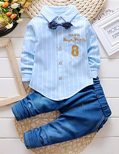 Menino de Jeans / Conjunto,Casual Bordado Algodão Primavera / Outono Azul / Rosa