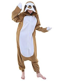 Kigurumi Pyjamas Trikoot/Kokopuku Halloween Animal Sleepwear Kahvi Eläinkuviointi Polar Fleece Kigurumi UnisexHalloween / Joulu /