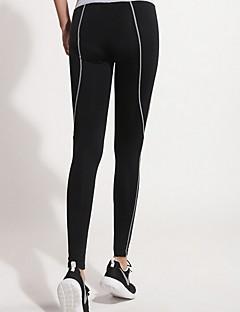 Yoga Pants Calças Respirável / Compressão Natural Stretchy Wear Sports Preto Mulheres Esportivo Ioga