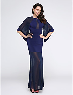 TS Couture Promoce Formální večer Šaty - Průsvitný Pouzdrové Klenot Na zem Šifón Tyl s Sklady