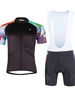 3d4782fd9c94 ILPALADINO Αθλητική φανέλα και σορτς ποδηλασίας Ανδρικά Γιούνισεξ  Κοντομάνικο Ποδήλατο Σετ ΡούχωνΓρήγορο Στέγνωμα Υπεριώδης Αντίσταση