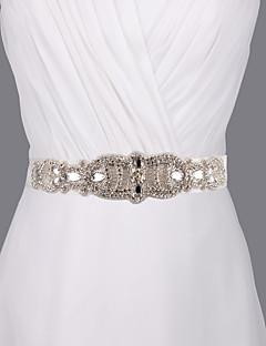 새틴 웨딩 / 파티/이브닝 / 일상복 창틀-스팽글 / 비즈 / 진주 / 모조 다이아몬드 여성 98 ½인치(250cm) 스팽글 / 비즈 / 진주 / 모조 다이아몬드