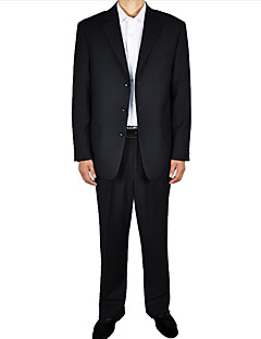 Men's Solid Formal Set,Polyester Long Sleeve Black set