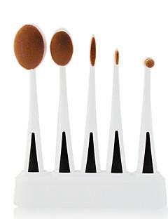 5 Set di pennelli Capelli sintetici Professionale / Viaggi / sintetico / Limita la formazione di funghi / Portatile PlasticViso / Occhi /