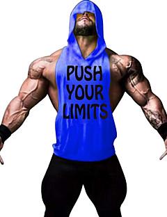 Homme Sans manche Course / Running Gilet/Sans Manche Sweat à capuche Chemise Shirt Débardeur Hauts/TopsRespirable Séchage rapide Anti