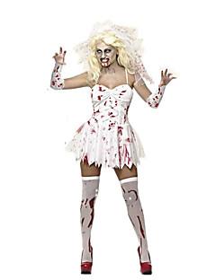 Costumes Ghost / Zombie Halloween / Carnival / Oktoberfest Red / White Vintage Dress / Gloves / Headwear