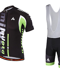 Miloto® Cycling Jersey with Bib Shorts Men's Short Sleeve Bike Breathable / Quick Dry / Moisture Permeability / YKK Zipper / Sweat-wicking