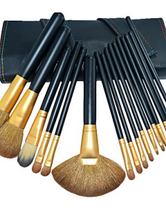16 Makeup Brushes Set Weasel Portable Wood Face Others