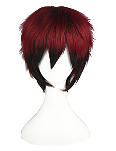 Cosplay Wigs Kuroko no Basket Kagami Taiga Black / Red Short Anime Cosplay Wigs 35 CM Heat Resistant Fiber Male / Female