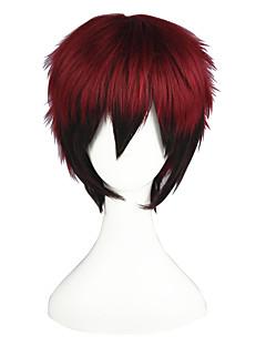 פאות קוספליי Kuroko אין סל Kagami Taiga שחור / אדום קצרה אנימה פאות קוספליי 35 CM סיבים עמידים לחום זכר / נקבה