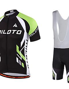 Miloto® Cykeltrøje og Bib-shorts Herre Kort Ærme Cykel Åndbart / Hurtigtørrende / Fugtpermeabilitet / YKK Lynlås / Svedreducerende