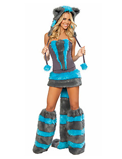 Animal Costumes / Bunny Girls Halloween / Christmas / Carnival Black / Blue Vintage Dress / Socks / Tail / Headwear