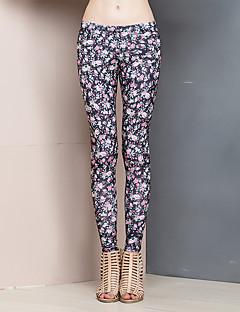 Kvinders Simpel Tætsiddende Bukser Mikroelastisk Polyester / Spandex