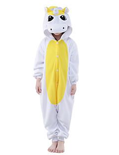 Kigurumi Pajamas New Cosplay® / Unicorn Leotard/Onesie Festival/Holiday Animal Sleepwear Halloween Yellow / Blue Solid Polar Fleece