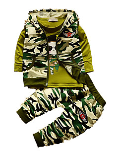 Boy's Casual/Daily Print Clothing Set,Cotton Fall Green / White