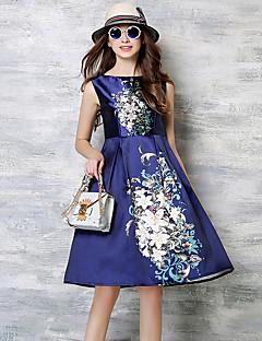 maxlindy kvinders gå ud / cocktail / ferie vintage / gade chic / sofistikeret floral en linje kjole