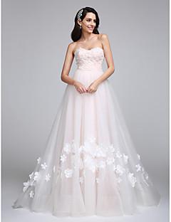 Lanting Bride® Linea-A Abito da sposa Strascico di corte A cuore Tulle con Fiore decorativo
