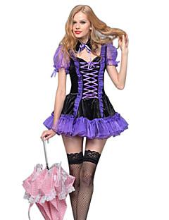 Costumes Angel & Devil / Zombie / Vampires Halloween / Christmas / Carnival /New Year Purple Vintage Dress